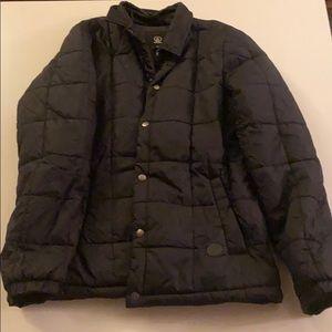 Volcom all black winter coat size medium